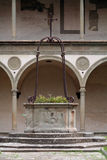 Italy,Tuscany,Florence,cloister of Santa Croce church. Stock Image
