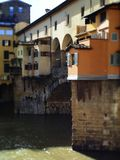 Italy, Tuscany, Florence, the Ponte Vecchio bridge. Italy, Tuscany, Florence, the Ponte Vecchio bridge and the Arno river Stock Photography