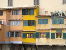 Italy, Tuscany, Florence, the Ponte Vecchio bridge. Italy, Tuscany, Florence, the Ponte Vecchio bridge and the Arno river Stock Photo