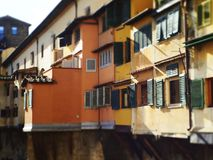 Italy, Tuscany, Florence, the Ponte Vecchio bridge. Italy, Tuscany, Florence, the Ponte Vecchio bridge and the Arno river Royalty Free Stock Images