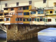 Italy, Tuscany, Florence, the Ponte Vecchio bridge. Italy, Tuscany, Florence, the Ponte Vecchio bridge and the Arno river Royalty Free Stock Image