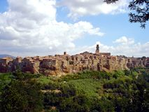 Italy, Tuscany, Grosseto, Maremma, view of the town of Pitigliano, called the tuff country Royalty Free Stock Image