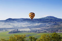 Italy. Tuscany. Landscape with a balloon Royalty Free Stock Images