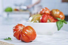 Italy, Tuscany, Magliano, Tomatoes and pepper in bowl Stock Photos
