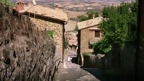 Italy, tuscany, montalcino street stock video