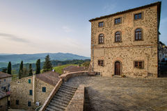 Italy, Tuscany, Montegemoli, The Castle royalty free stock photo