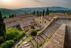 Italy, Tuscany, Montegemoli, panoramic view Royalty Free Stock Photo