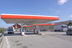 Italy. Tuscany. Petroleum station Stock Photos