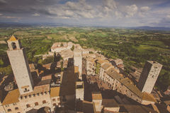 italy tuscany San Gimignano Royaltyfri Fotografi