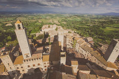 Italy, Tuscany. San Gimignano Royalty Free Stock Photos