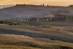 Italy, Tuscany, Siena, Asciano, Crete Senesi Stock Photos