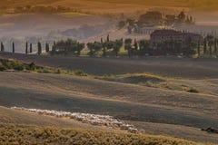 Italy, Tuscany, Siena, Asciano, Crete Senesi Stock Images