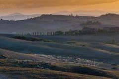 Italy, Tuscany, Siena, Asciano, Crete Senesi Royalty Free Stock Photos