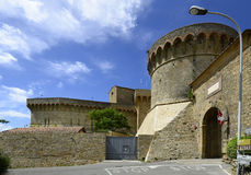 Italy, Tuscany, Volterra. Italy, fortress Fortezza Medicea with Porto a Selci - Selci Door, entrance to Etruscan village Volterra, the fortress is now used as Royalty Free Stock Photography