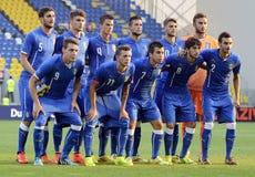 Italy U21 football team Royalty Free Stock Photos