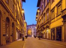 Italy Uma rua abandonada de Florença Fotografia de Stock