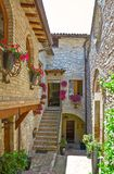 Architectures and religion in Assisi. Italy,Umbria,Assisi, the architectures of of the old country center Stock Photos