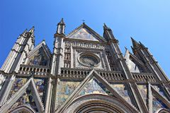 Italy, Umbria: Detail of Orvieto Cathedral. stock image