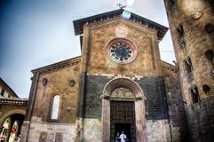 Italy,Umbria,Orvieto,the Church Sant'Andrea. Italy,Umbria,Orvieto - the ancient church Chiesa di Sant'Andrea stock image