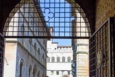 The ancient architectures of Perugia. Italy,Umbria,Perugia,the Dei Priori palace seen from Matteotti square Royalty Free Stock Photography