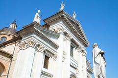Urbino. Italy, Urbino, the Cathedral facade Stock Image
