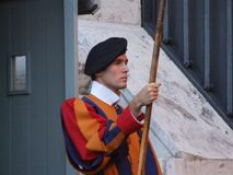 Italy Vatican Swiss Guard - Creative Commons by gnuckx Royalty Free Stock Photo