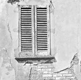 Italy  venetian blind     in    europe    old architecture and Royalty Free Stock Photography