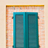 italy  venetian blind     in    europe    old architecture and Royalty Free Stock Photos