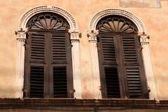 italy venetian fönster Arkivbild