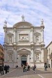 Italy Veneza (Basílica di San Moise) a igreja de San Moise imagem de stock