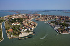Italy, Veneza, console de Murano, vista aérea Fotografia de Stock Royalty Free