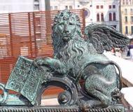 Italy Veneza Italy Veneza O leão voado - o símbolo da cidade Imagens de Stock