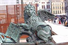 Italy Veneza Italy Veneza O leão voado - o símbolo da cidade Fotos de Stock