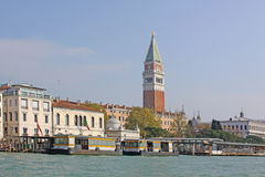 Italy Veneza Torre de Bell de San Marco - Campanile de St Mark Fotos de Stock Royalty Free