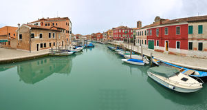 Italy, Venice. Panoramic of Murano royalty free stock image