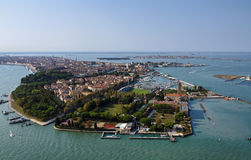 Italy, Venice, aerial view of the city Royalty Free Stock Image