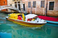 Italy, venice, boat ambulance Stock Photo