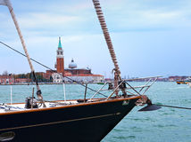 Italy. Venice Canal Grande with boats Stock Images