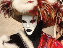 Italy. Venice. Carnival. People in masks Royalty Free Stock Image