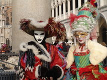 Italy. Venice. Carnival. People in masks Stock Image