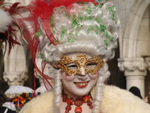 Italy. Venice. Carnival. People in masks Royalty Free Stock Photography