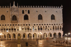 Italy. Venice. Doge's Palace at night Royalty Free Stock Images