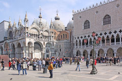 Italy. Venice. Doge's Palace and St Mark's Basilica Stock Photography