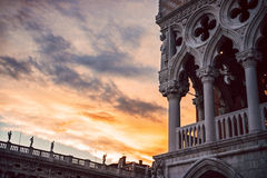 Italy, Venice, dusk at San Marco square Royalty Free Stock Image