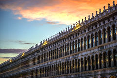 Italy, Venice, dusk at San Marco square.  stock photo