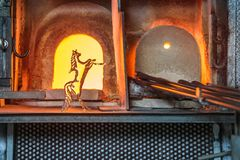 Italy, Venice, glass horse and Murano factory special glass-blow stock photo