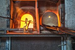 Italy, Venice, glass horse and Murano factory special glass-blow royalty free stock images