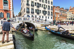 Italy, Venice. Gondola rides Royalty Free Stock Photography