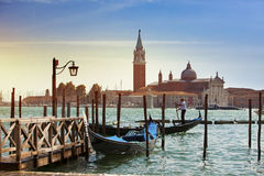 Italy. Venice. Gondolas in the Canal Grande Royalty Free Stock Images