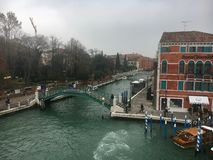 Italy, Venice. The grand canal in Venice on a rainy day Royalty Free Stock Photography